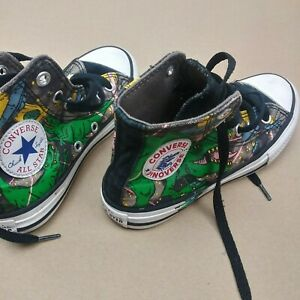 Converse dinoverse Hi Top Size 12 Kids Shoes All Star Converse Green Dinosaurs $19.95