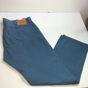 Mens Levis 501 Teal Blue Jeans Mens Sz tag 42x32 Button Fly Actual 42x31