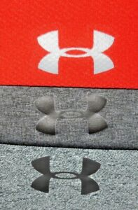 Mens GUC Lot of 3 Gray Red UNDER ARMOUR Heat Gear Training Shirt size L $24.99