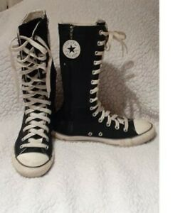 Converse All Star high top calf black youth girls size 4 $10.00