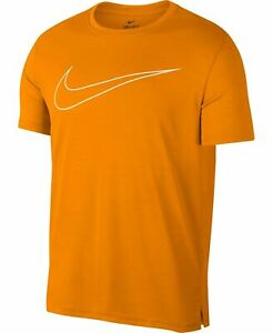 New Nike Mens Small Orange Dry Fit Training Top Crew Neck T Shirt $19.50