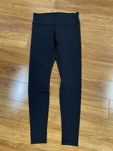 LULULEMON Wunder Under black skinny full length leggings Sz 8 Inseam 29quot; $50.00