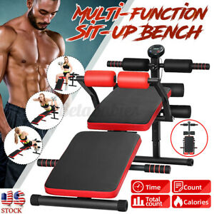 Sit Up Bench Fitness Decline Abdominal Home Gym Yoga Exercise Workout Equipment $87.95