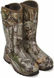 TideWe Rubber Hunting Boots with 800g Insulation Waterproof Insulated Realtree