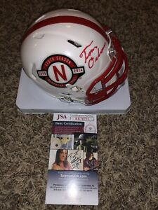 TOM OSBORNE SIGNED NEBRASKA CORNHUSKERS FOOTBALL Anniversary Mini HELMET JSA HOF $199.99