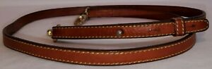 VTG DOONEY amp; BOURKE Brown Leather Shoulder Crossbody Strap w Brass Hardware