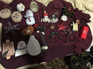 20 Lot of Vintage Christmas Tree Ornaments Holiday Decorations. Some Handmade