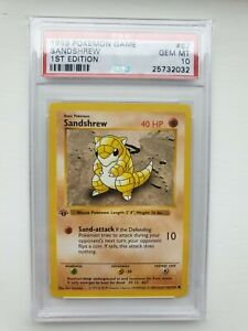 Pokemon Cards Psa 10 Sandshrew 62 102 1st Edition Base Set GBP 349.99