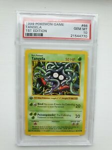 Pokemon Cards Psa 10 Tangela 66 102 1st Edition Base Set GBP 349.99