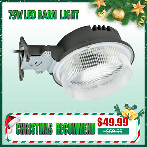 75W LED Ultra bright Barn Street Pole Outdoor Garden Wall Mount Security Lights $39.99