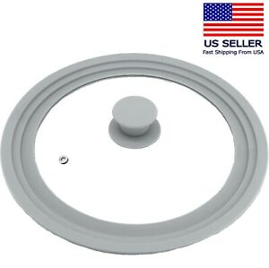 Universal Lid for Pots Pans Skillets Glass with Silicone Rim 9 11 in Cookware $16.88