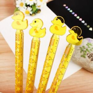 Cartoon Duck Plastic Ruler Student Drawing Stationery Office School Supplies $9.98