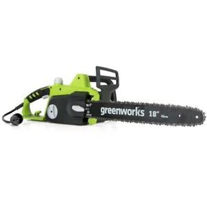 Corded Electric Chainsaw Outdoor Equipment Trimming Cutting Home 14.5 Amps 18 in $58.39