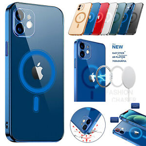 Magnetic Clear Phone Case Mag Safe Cover For Apple iPhone 12 Pro Max 12 Mini 12 $12.26