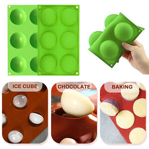 6 Holes Round Silicone Baking Mold Half Ball Sphere Silicone Cake Chocolate Mold $5.99