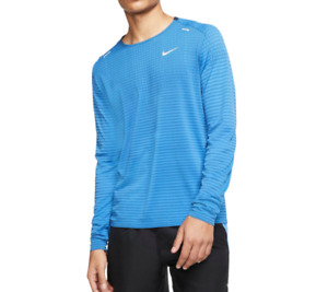 Nike Running Top Mens Authentic TechKnit Ultra Run Pacific Blue Small to 2XL $39.99