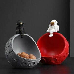 Resin Astronaut Moon Storage Figurines Modern Statues Nordic Desk Decorative $56.10