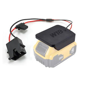 Power Wheels Battery Upgrade Adapter with Plug and Fuse Battery NOT Included