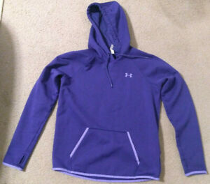 Womans Purple Under Armour Cold Gear Hoodie Sweatshirt Size Medium M $12.99