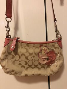 Coach Poppy Flower Purse Pink Preowned