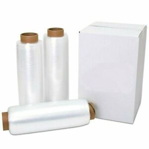 18quot; x 1500#x27; 80 Gauge 4 Rolls Pallet Wrap Stretch Film Hand Shrink Wrap 1500FT $33.95