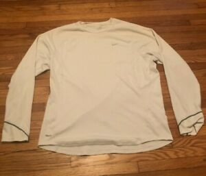 NIKE Fit Dry long sleeve running work out top longsleeve mens size Large L $10.00