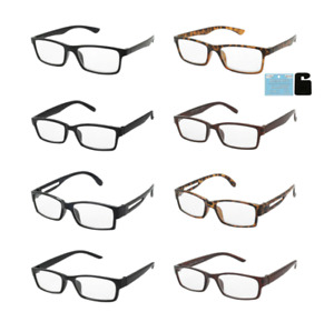 Distance Glasses Square Frames Near Sighted 1.75 to 2.75 Negative Strengths $8.99