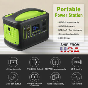568Wh Solar Portable Power Station Portable Generator Emergency Power Supply