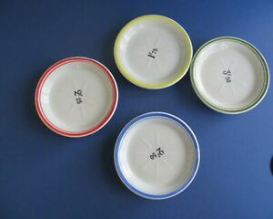 Vintage French Franc bistro tip dish Absinthe set of 4