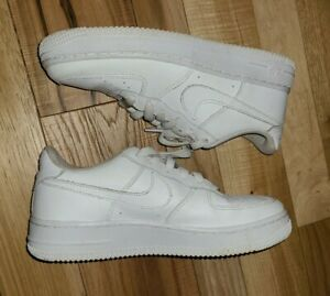 Nike Youth Air Force 1 Low GS White Athletic Shoes Size US 5Y $39.99