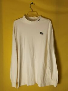 WAKE FOREST DEMON DEACONS MOCK TURTLENECK LONG SLEEVE NIKE XL $12.00