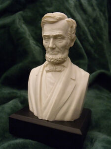 Abraham Lincoln Bust Statue : NEW IN BOX 6quot; High WHITE $19.95
