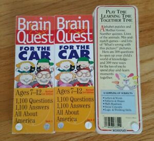 Brain Quest Extra For The Car Set Ages 7 12 All About America 3rd Edition plus