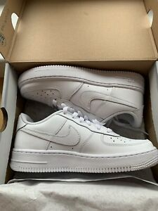 White on White Nike Air Force 1 Size 5Y In Box $49.00