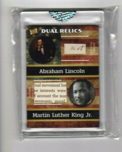 ABRAHAM LINCOLN amp; MARTIN LUTHER KING JR. DUAL RELICS $49.99