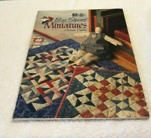 Bias Square Minatures Christine Carlson 1995 The Patchwork Place Quilting Book $4.99
