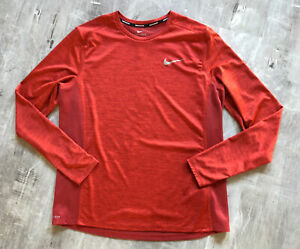 Nike Running Shirt Size XL Burnt Orange Dri Fit Long Sleeve $16.88