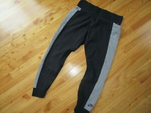 Nike XL Black Gray Joggers Cuffed Bottom High Elastic Waist Great Condition Cute $14.99