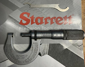 "Starrett T230XFL Micrometer Carbides .0001"" w Wrench 0 1"" USA Tool $49.99"