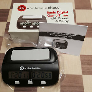 CHESS CLOCK BASIC best for beginners easy set time control Delay amp; Bonus