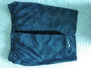 Men Nike XL X large With strings blue back with liner Dri Fit New $25.99