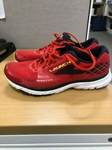 Brooks Launch 3 Red amp; Black Mens Running Shoes Size 11 High Risk Athletic Shoe $29.99
