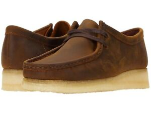 Mens Shoes Clarks Originals WALLABEE Lace Up Suede Moccasins 56605 BEESWAX $124.90