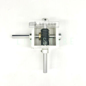 Worm gear reducer small gearbox 90 degree right angle reversing gear box 1:10 $58.00