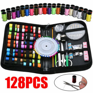 128Pcs DIY Multi function Sewing Box Set Portable Travel Emergency Sewing Kit $9.55