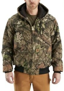 CAMO Carhartt Hunting Jacket coat QUILTED FLANNEL LINED Size Large Tall