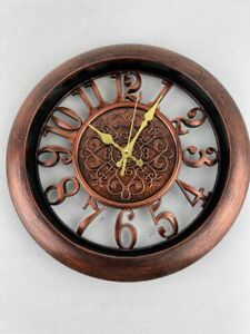 Adalene Retro Wall Clocks Battery Operated Non Ticking for Room Décor No glass $20.00