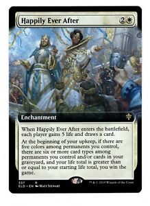 MTG HAPPILY EVERY AFTER FULL ART WHITE RARE ENCHANTMENT THRONE OF ELDRAINE LP $1.49