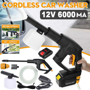 Cordless Pressure Washer Portable Power Cleaner 320 psi 2.0A Battery w Charger $98.99