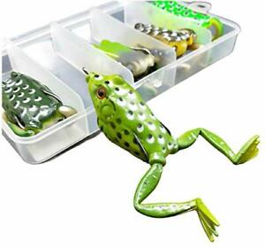Bass Topwater Frog Lures Kit Soft Plastic Fishing Lures Bait Frogs With Legs